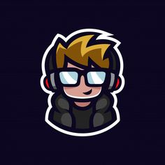 Gamer mascot geek boy esports logo avatar with headphones an.- Gamer mascot geek boy esports logo avatar with headphones and glasses cartoon ch… Gamer mascot geek boy esports logo avatar with headphones and glasses cartoon character Premium Vector Cartoon Cartoon, Cartoon Characters, Cartoon Design, Team Logo Design, Mascot Design, Logo D'art, Ours Grizzly, Youtube Logo, Esports Logo
