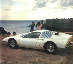 1968 FERRARI P6  Looks like a Land Shark ! Look at the shape, nose and gills !  No doubt inspiration from nature.