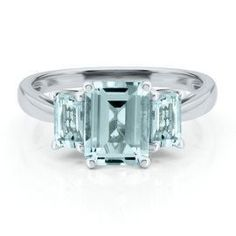 A familiar style for me, only aquamarine instead of diamonds.
