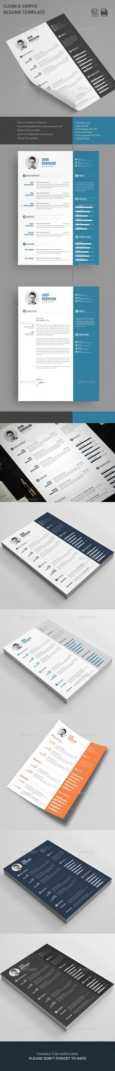 Resume — Photoshop PSD #clean resume #infographics • Available here → https://graphicriver.net/item/resume/16429921?ref=pxcr