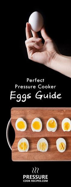 An eggsperiment on how to make perfect pressure cooker eggs! Check out our results & find your favorite soft, medium, or hard boiled eggs! :) http://pressurecookrecipes.com