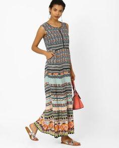 7997392df17 Boho fashion Floral Print Maxi Dress, Bohemian Fashion, Bohemian Style,  Blue Dresses,