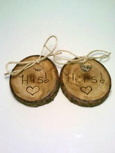 Rustic Ring Bearer Pillows TWO Ring Bearer by DeerwoodCreekGifts, $20.00