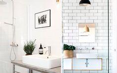 | Diseño de baños con lavabos sobre encimera