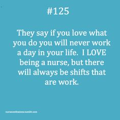 Nursing.... Exactly!