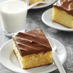 With simple ingredients and just 20 minutes of prep, the classic cake can be transformed into cupcakes, a layer cake, or a specialty cake with the simple swap of a pan: http://www.bhg.com/recipes/desserts/cakes/classic-cakes/?socsrc=bhgpin031814yellowcake&page=6