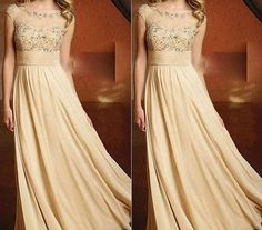 2013 Modest Chiffon Formal Evening Prom Gown Wedding Party Dresses celebrity Dress Homecoming on Etsy, $124.00