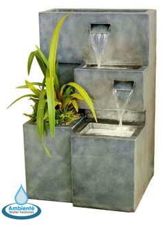 Modern Water Fountains Contemporary Water Features Stainless