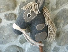 Hobby horse / stick horse - Genuine 'Nobel Steed'  | Felt