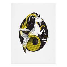 Lucie Rice Carl Capricorn Art Print   DENY Designs Home Accessories