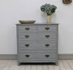 Distressed Edwardian Chest Of Drawers