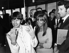 Ringo Starr and Tom Jones at the Melody Maker Pop Poll luncheon in the GPO Tower restaurant. September 13, 1966