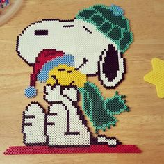Snoopy hama beads by  mum1st_lynz2nd
