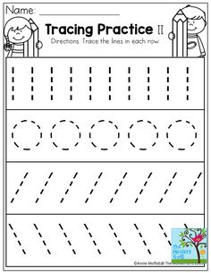 Tracing Practice!  TONS of printable for Pre-K, Kindergarten, 1st Grade, 2nd Grade and 3rd Grade!
