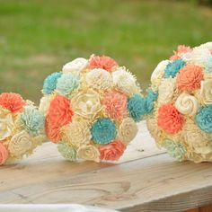 Aqua Flowers Bouquet On Wanelo C Wedding Flower Decorations Ivory