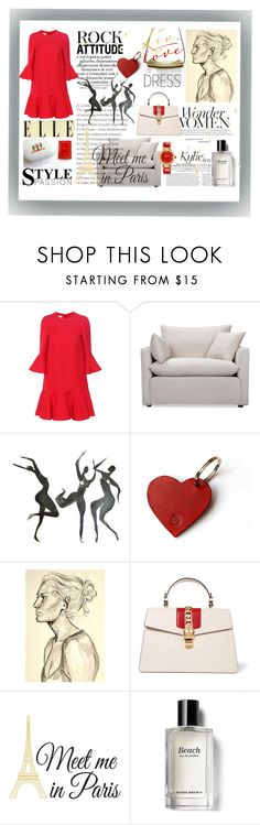 """""""Fashion Week"""" by xena-style ❤ liked on Polyvore featuring Valentino, Volo Design, Blume, Gucci, Wall Pops!, Bobbi Brown Cosmetics and Versace"""