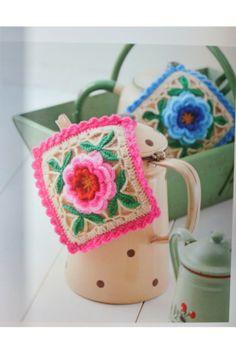 Crochet potholder       ♪ ♪ ...  #inspiration_crochet  #diy GB http://www.pinterest.com/gigibrazil/boards/