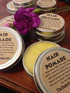 Hair Pomade Lavender scent for dry hair styling by VidaHealingArts