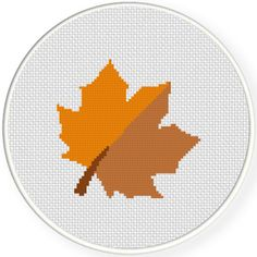Charts Club Members Only: Maple Leaf Cross Stitch Pattern