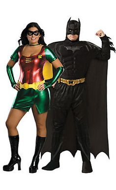 Shop for couples Halloween costumes for men and women. shop for funny couples costumes, paired horror costumes, . Batgirl Costume Kids, Robin Halloween Costume, Batman And Robin Costumes, Couple Halloween, Halloween Ideas, Batman Robin, Halloween Stuff, Halloween Party, Funny Couple Costumes