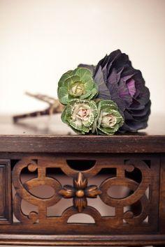 Ornamental cabbage bridesmaid bouquet