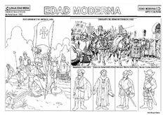 Artículo sobre Fichas de la Edad Moderna contenido en infantil 2.0