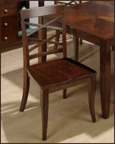 "Bavarian Cherry Dining Side Chair JO-870C-423KD (Set of2) by Jofran. $212.00. This Bavarian cherry finish set features rectangle table w/ butterfly leaf and fancy cherry veneer, matching side chairs with double ""X"" back. Includes: Double ""X"" Back Side Chair - JO-870C-423KD Dimensions: Side Chair - 20""W x 21""D x 38""H"