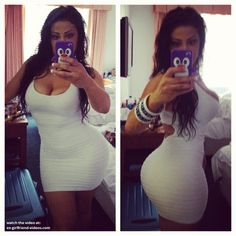Hot curvy babe sexy tight dress selfshot