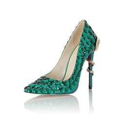 fb36424d9af8 Sheepskin Green Crystal Red Bottom Heels – Curvy Fashion Queen Red Bottom  Heels, Red Bottoms