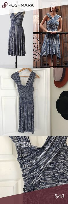"""Anthro Plenty By Tracy Reese Dreamy Drape Dress Anthropologie Plenty By Tracy Reese Dreamy Drape Speckled Ink Dress Size M  Length: approx 36.5"""" Waist: approx 24"""" with some stretch  Bust: approx 30"""" In excellent condition, though the care instructions tag has been taken off 95% Rayon 5% Spandex Hand wash Anthropologie Dresses"""