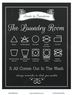 laundry instructions free printable laundry room poster