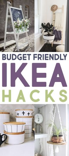Come and check out The Best Budget Friendly IKEA Hacks Out There! You are going . - Ikea DIY - The best IKEA hacks all in one place Bedroom Hacks, Ikea Bedroom, Girls Bedroom, Organizing Hacks, Hacks Diy, Ikea Night Tables, Side Tables, Hackers Ikea, Ikea Bed Slats