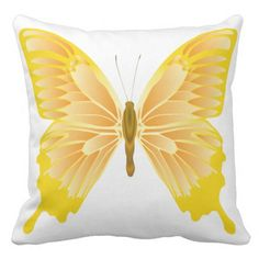 Colorful Butterfly Grade Cotton Throw Pillow 20x20