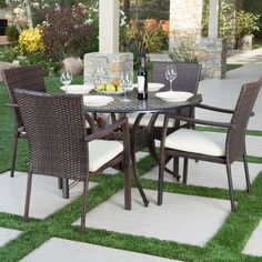 Bay Isle Home Amare Outdoor 5-Piece Dining Set