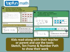 Math Word Problems - This app includes a wide variety of addition and subtraction word problems designed for students to listen, read, draw and solve.