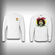 Rasta Skull - Solar Performance Long Sleeve Shirts - Fishing Shirt