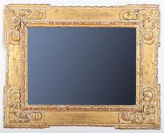 CARVED GILTWOOD FRAME, ATTRIBUTED TO CHARLES PRENDERGAST (1863-1948)  Fitted with a mirror, with label from Williams College Museum of Art. 13 x 18 in. (sight), 21 x 26 in. (frame).   Provenance: Mrs. Charles Prendergast.  Estate of Joseph T. Butler, Tarrytown, NY