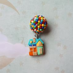 Polymer Clay Kawaii, Polymer Clay Canes, Polymer Clay Pendant, Polymer Clay Earrings, Diy Clay, Clay Crafts, Disney Clay Charms, Clay Fairy House, Butterfly Wall Decals