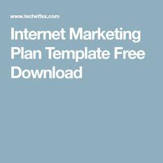 Internet Marketing Plan Template Free Download Digital Marketing Plan Template, Internet Marketing, Templates, How To Plan, Free, Stencils, Online Marketing, Vorlage, Models