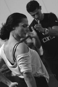 Adela y Rafael Campallo ensayan 'Sangre' (foto © Danielmpantiga.com)