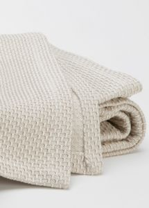 Honeycomb Blanket : Remodelista-100% cotton white/natural yarns from Portugal