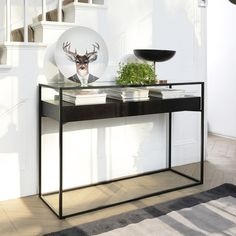 Click to zoom - Drift console table darkwood