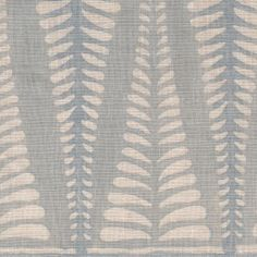 Fern in Wave on natural linen // Galbraith & Paul