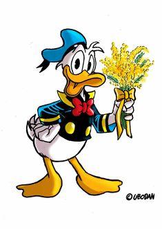 Disney Duck, Disney Mickey, Disney Art, Duck Cartoon, Cartoon Art, Cartoon Characters, Disney Best Friends, Mickey Mouse And Friends, Pato Donald Y Daisy