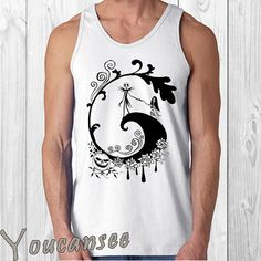 the nightmare before christmas men tank top print by YouCanSee, $20.00