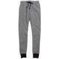 MADEWELL Night-In Pocket Leggings ($60) ❤ liked on Polyvore featuring pants, leggings, hthr grey, grey pants, madewell pants, cotton leggings, drawstring pants and pocket pants