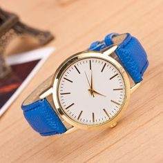 Find More Fashion Watches Information about Sliver Case Geneva Platium Quartz Watch Women Men Wristwatch Simple Style Leather Strap Casual Watch Relogio 2014 High Quality,High Quality watch welcome,China watch small Suppliers, Cheap watch case opener tool from Pink Smile on Aliexpress.com