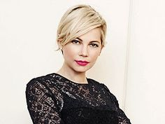 back of michelle williams short hair - Google Search