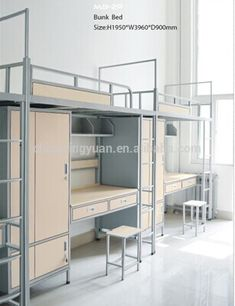 How you can Discover The Very Best Loft Beds For Kids – Bunk Beds for Kids Dorm Bunk Beds, Bunk Beds Built In, Bunk Rooms, Kids Bunk Beds, Metal Bunk Beds, Dormitory Room, Student Dormitory, Dorm Design, House Design