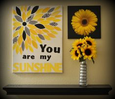 You Are My Sunshine Canvas Wall Decor by TreasuresbyBri on Etsy